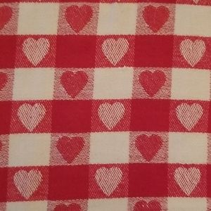 Other - Vintage Hearts Square Table Cloth
